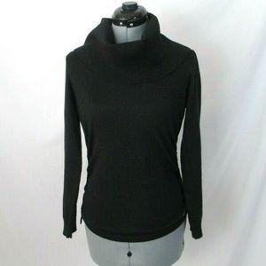 Michael Kors Turtleneck Sweater Black Silver Small